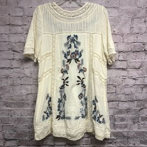 Free People Dress size XS Peasant Boho Embroider